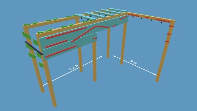 Ninja Course Mockup 3D Model