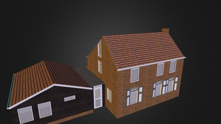 Sketch renovation and extension Oud-Beierland 3D Model
