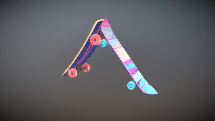 SkateBoards 3D Model