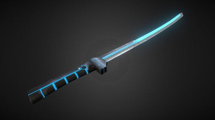 Futuristic Katana 3D Model
