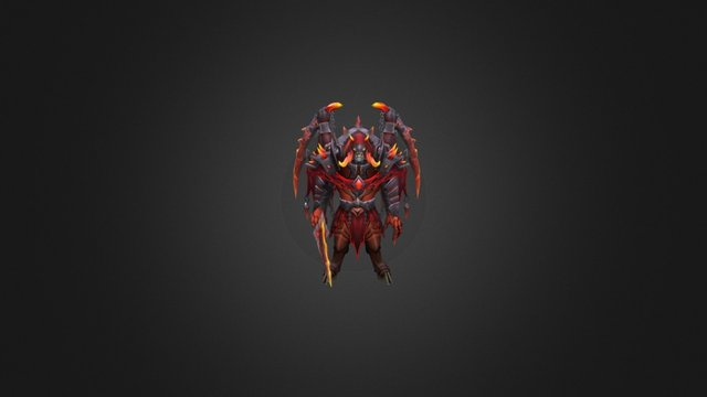 Bringer of troubles Doom set for Dota 2 3D Model
