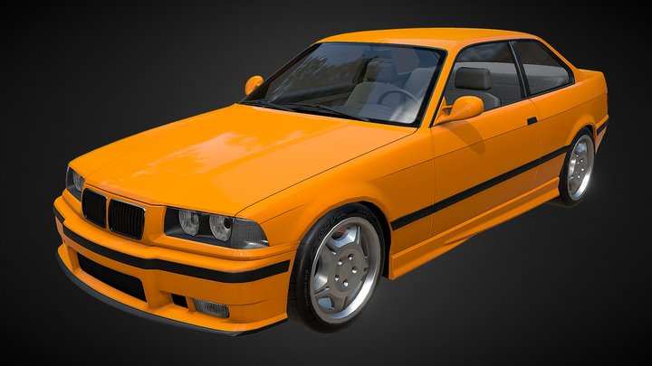 BMW E36 M3 3D Model