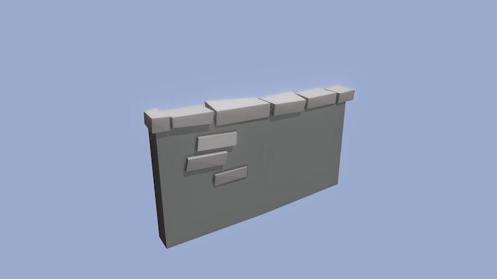 Brick Wall 2 3D Model