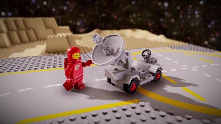 LEGO 889-1: Radar Truck 3D Model