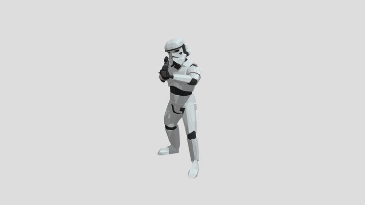 Stormtrooper Shoot Animation 3D Model