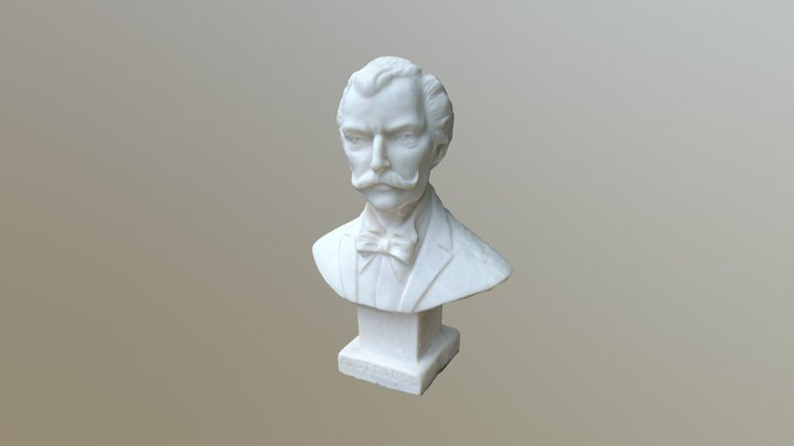 Small Statue of J.Strauss 3D Model