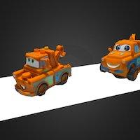 Jouets Cars, original et contrefaçon 3D Model
