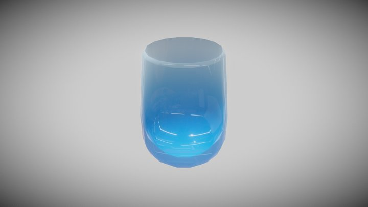 Blue Gradient Glass 3D Model