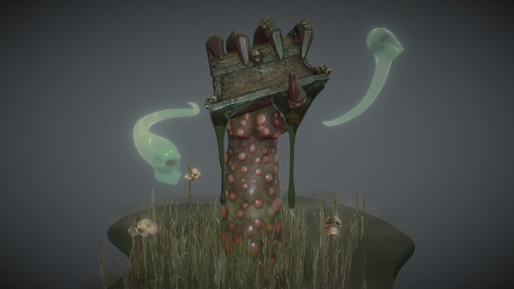 Underworlds Chest in the Swamp of No Return 3D Model