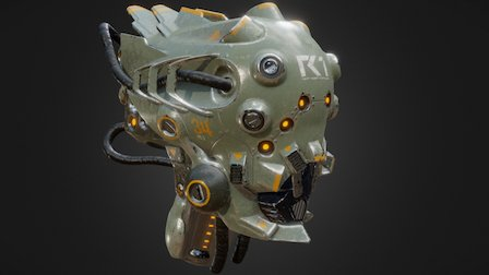 Robot head made in Oculus Medium 3D Model