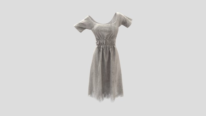 Early 19th Century Chemise - Distressed 3D Model