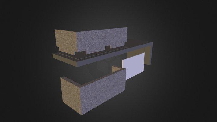 Exploded Reception Desk 3D Model