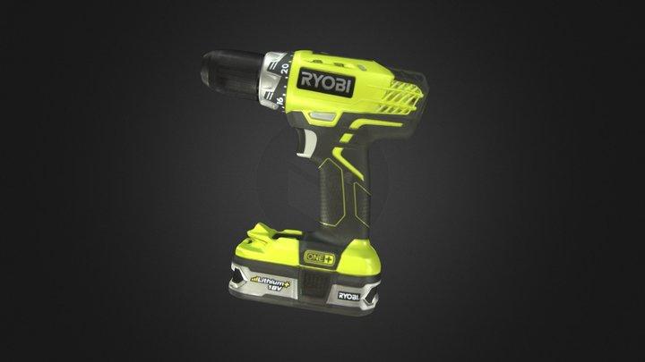 Ryobi Drill 3D Model