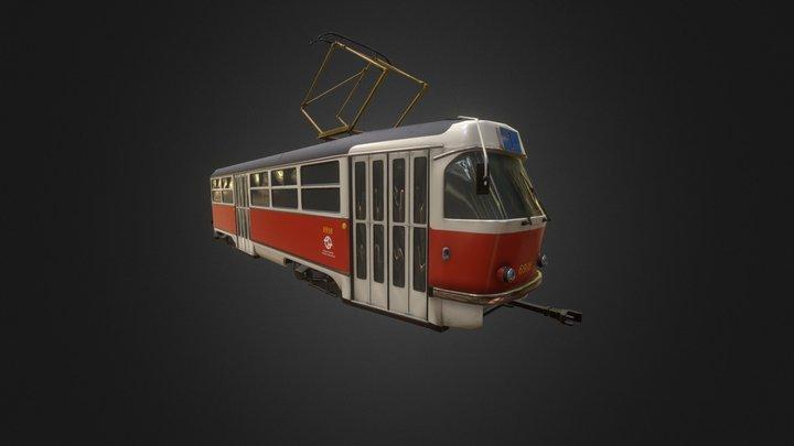 Tram Tatra T3 3D Model