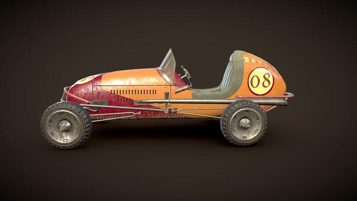 Old racing car 3D Model
