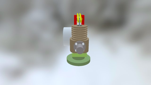 Moteur Stirling Alpha 3D Model