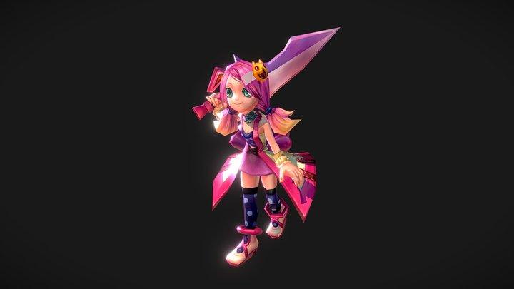 Pink Sword Master 3D Model