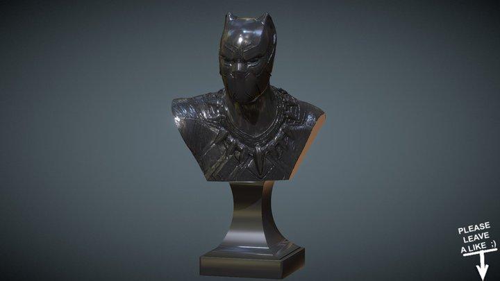 BLACK PANTHER INSPIRITED FREE BUST 3D Model