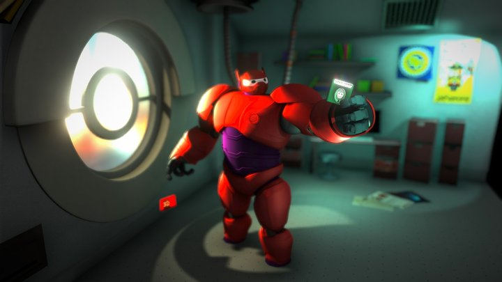 Scene - Baymax Lab 3D Model