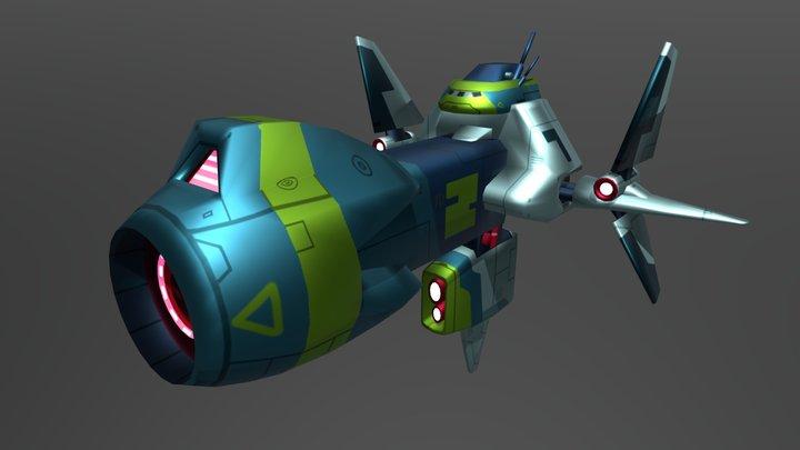 Big battle ship 3D Model