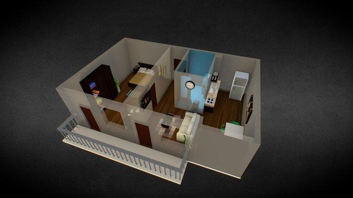 low poly Apartment 3D Model
