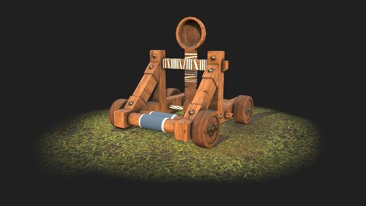Medieval Catapult - AoE 2 3D Model
