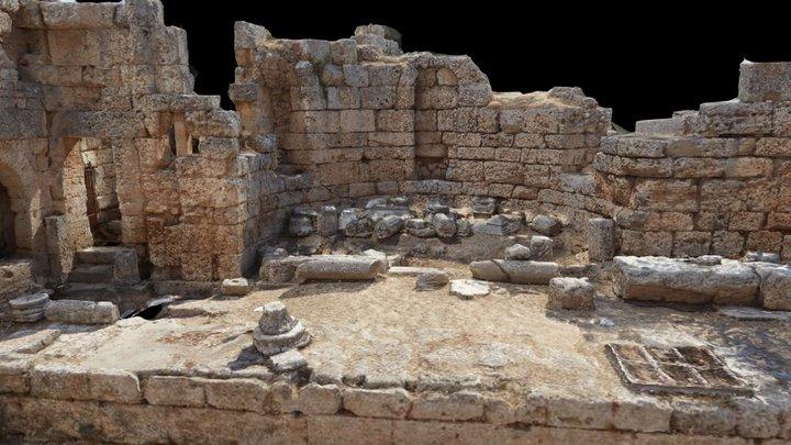 Ancient Corinth Pirene Fountain 3D Model