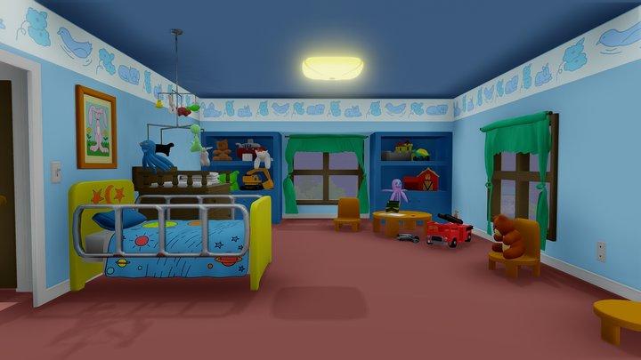 Stewie's Bedroom 3D Model