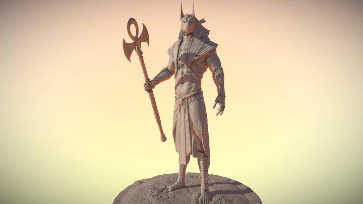 Anubis 3D Printable model 3D Model