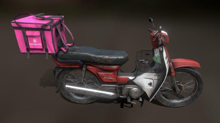 Food Delivery Bike 3D Model