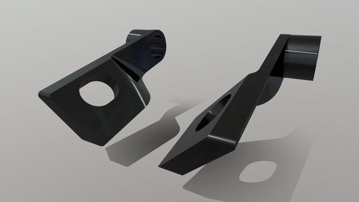 Rear blinker's bracket for Suzuki S40/Savage 3D Model