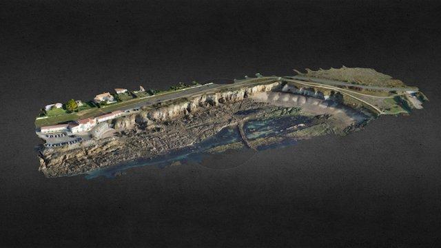 Chateau d'Olonne-Trait de Côte DRONELIS-151216 3D Model