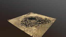 Restos sumergidos Pantano del Ebro 3D Model