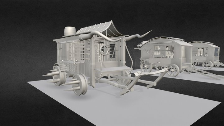 (HW XYZ School) Secondary forms 3D Model