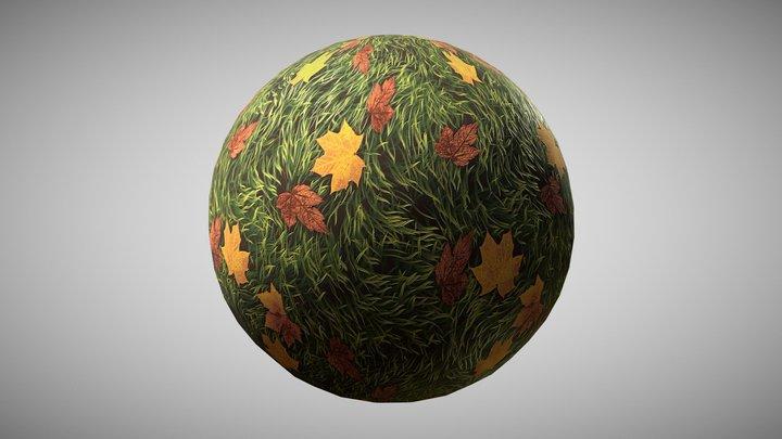 Tileable Autumn Grass Texture 3D Model
