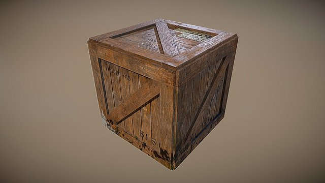 Crate worn&aged 3D Model