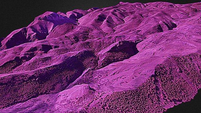 Sierra de Gador 2.000 ha  NIR 3D Model