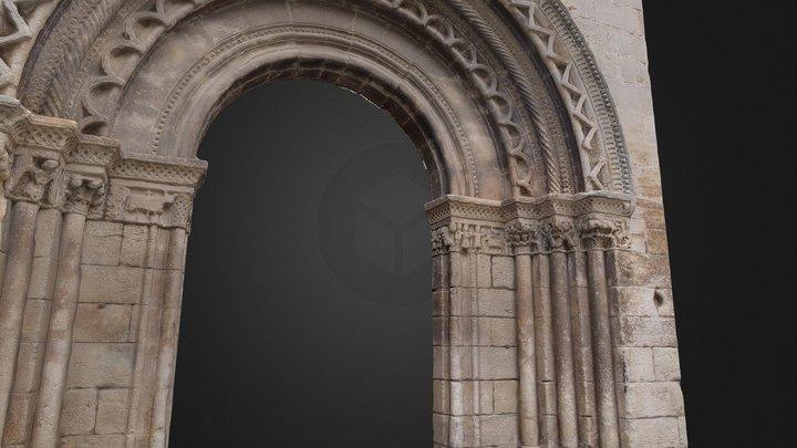 Fachada Románica  de Santa María de Verdú 3D Model