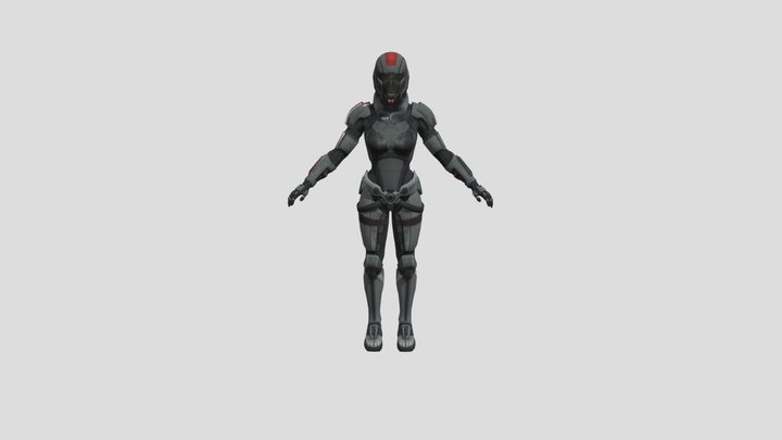 N7 Armor Female 3D Model
