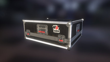 Audio Case PBR 3D Model