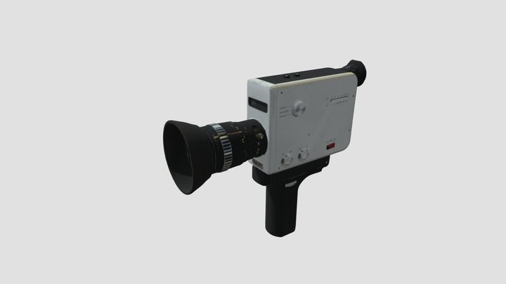 Caméra Super 8 Braun Nizo S8T 3D Model