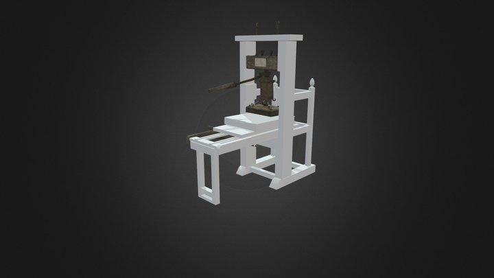 Thomas Gent 18th-century printing press 3D Model
