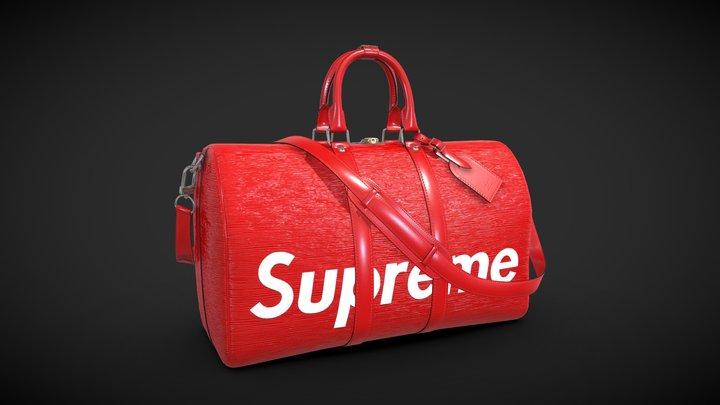 Louis Vuitton Bag Keepall Bandouliere 45 3D Model
