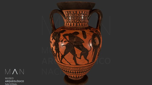 Ánfora de Heracles y el león de Nemea 3D Model