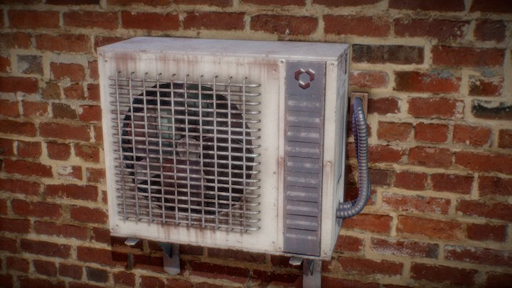 Rusted Air Conditioner 3D Model