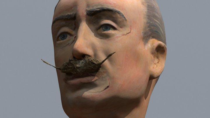 Papier Maché Head 3D Model