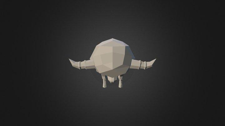 Rectangulized Bouffant 3D Model