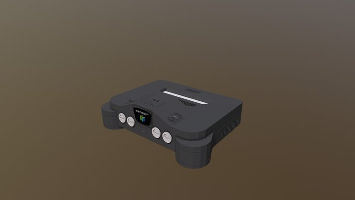 Nintendo 64 console (Minecraft model) 3D Model