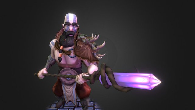 Druid Barbarian 3D Model
