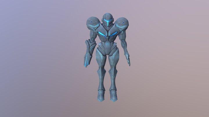 Dark Samus not animated 3D Model